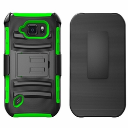 Samsung Galaxy S6 Ative Armor Belt Clip Holster Case Cover Green