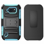 Samsung Galaxy S6 Ative Armor Belt Clip Holster Case Cover Light Blue