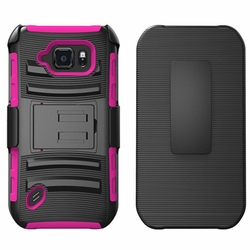 Samsung Galaxy S6 Ative Armor Belt Clip Holster Case Cover Pink