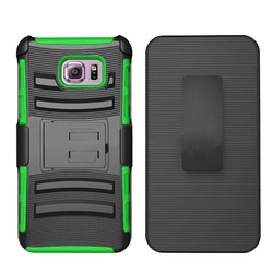Samsung Galaxy S6 Edge Plus Armor Belt Clip Holster Case Cover Green
