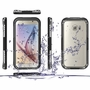 Samsung Galaxy S6 / S6 Edge Full Body Sealed Waterproof Snowproof Shockproof Dirtproof Case Black