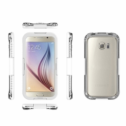 Samsung Galaxy S6 / S6 Edge Full Body Sealed Waterproof Snowproof Shockproof Dirtproof Case White