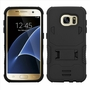 Samsung Galaxy S7 Edge Impact Silicone Case Dual Layer with Stand Black