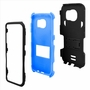 Samsung Galaxy S7 Impact Silicone Case Dual Layer with Stand Blue