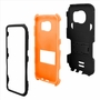 Samsung Galaxy S7 Impact Silicone Case Dual Layer with Stand Orange