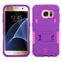 Samsung Galaxy S7 Impact Silicone Case Dual Layer with Stand Purple Pink