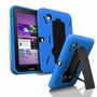 Samsung Galaxy Tab 2 7.0 Hybrid Silicone Case Cover Stand Blue