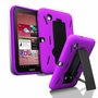 Samsung Galaxy Tab 2 7.0 Hybrid Silicone Case Cover Stand Purple