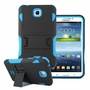 Samsung Galaxy Tab 3 7.0 Impact Silicone Case Dual Layer with Stand Blue