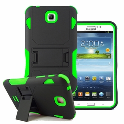 Samsung Galaxy Tab 3 7.0 Impact Silicone Case Dual Layer with Stand Green