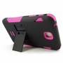 Samsung Galaxy Tab 3 7.0 Impact Silicone Case Dual Layer with Stand Pink