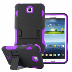 Samsung Galaxy Tab 3 7.0 Impact Silicone Case Dual Layer with Stand Purple