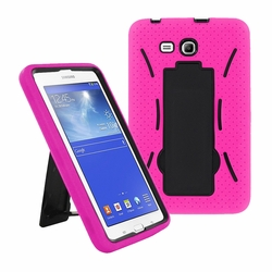 Samsung Galaxy Tab 3 Lite 7.0 Hybrid Silicone Case Cover Stand Pink