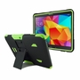 Samsung Galaxy Tab 4 10.1 Impact Silicone Case Dual Layer with Stand Green