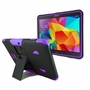 Samsung Galaxy Tab 4 10.1 Impact Silicone Case Dual Layer with Stand Purple
