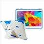 Samsung Galaxy Tab 4 10.1 Impact Silicone Case Dual Layer with Stand White Blue