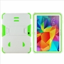 Samsung Galaxy Tab 4 10.1 Impact Silicone Case Dual Layer with Stand White Green