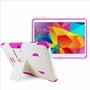 Samsung Galaxy Tab 4 10.1 Impact Silicone Case Dual Layer with Stand White Pink