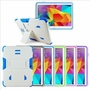 Samsung Galaxy Tab 4 10.1 Impact Silicone Case Dual Layer with Stand White Purple