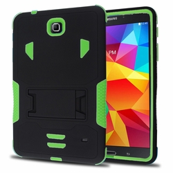 Samsung Galaxy Tab 4 7.0 Impact Silicone Case Dual Layer with Stand Green