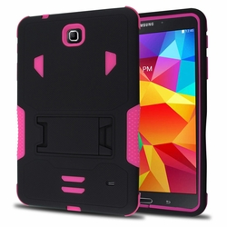 Samsung Galaxy Tab 4 7.0 Impact Silicone Case Dual Layer with Stand Pink