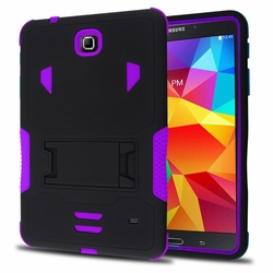 Samsung Galaxy Tab 4 7.0 Impact Silicone Case Dual Layer with Stand Purple