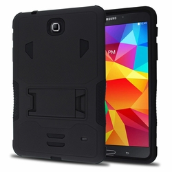Samsung Galaxy Tab 4 8.0 Impact Silicone Case Dual Layer with Stand Black