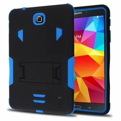 Samsung Galaxy Tab 4 8.0 Impact Silicone Case Dual Layer with Stand Blue