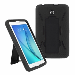 Samsung Galaxy Tab A 8.0 / T355 Hybrid Silicone Case Cover Stand Black