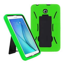 Samsung Galaxy Tab A 8.0 / T355 Hybrid Silicone Case Cover Stand Green