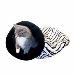 Self Warming Kitty Sack - Zebra