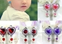 Set Of 4 No Pierced Earrings Female Child Pendant Ear Clips Random Color