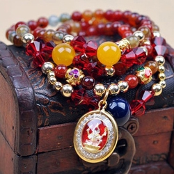Stacked Assorted Crystal Bracelet -