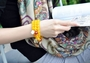 Stacked Natural Yellow Topaz Amulet Bracelet -