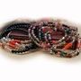 Stacked Swarovski Crystal and Agate Stone Bracelet - Stacked Swarovski Crystal and Agate Stone Bracelet-Color Black