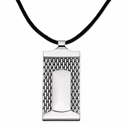 Stainless Steel Dog Tag Men's Pendant Necklace Chain Pendant Necklace Adjustble Cord
