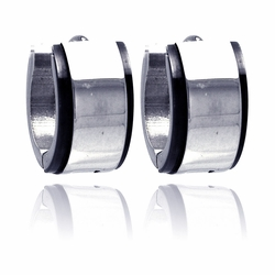 Stainless Steel Hoop Earrings  Ladies Jewelry  567-sse00004 -