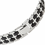 Stainless Steel New York Football Bracelet - Size: 8