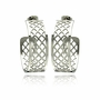 Stainless Steel Semi Hoop Earrings  Ladies Jewelry  567-sse00037 -