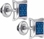 Sterling Silver 0.07CT-DIA MICRO-PAVE EARRINGS - Earrings