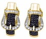 Sterling Silver 0.61CTW DIAMOND MICRO PAVE EARRINGS - Earrings