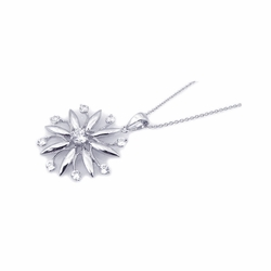 Sterling Silver Cubic Zirconia Pendant Necklace -