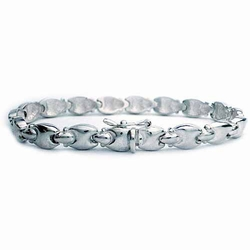 Sterling Silver polished H link Bracelet