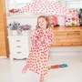 Strawberry Cute Baby Rain Jacket Infant Raincoat Toddler Rain Wear PINK M