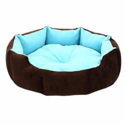 Stylish Pet Bed Pet House Detachable Doghouse Kennel for Small Pets Blue+Brown