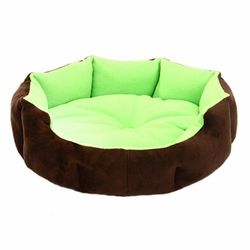 Stylish Pet Bed Pet House Detachable Doghouse Kennel for Small Pets Green+Brown
