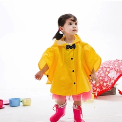 Toddler Rain Day Outerwear Baby Rain Jacket Infant Raincoat  RED Bowknot S 2-3Y
