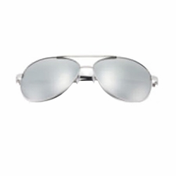 Ultralight Fashion Polarized Sunglasses (Silver with Polarizer)