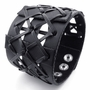 Weaved Black Leather Bracelet -