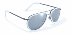 White Rimmed Aviator Style Sunglasses by Swag